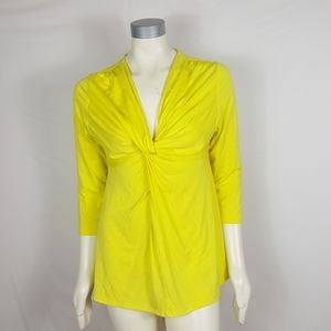 Boston Proper Twisted Front Blouse